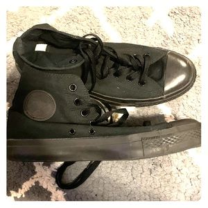 High Top Black Converse Sneakers - Unisex